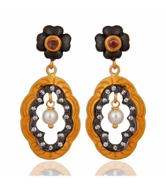 Almas Earrings - RAJE0541SLZWPL