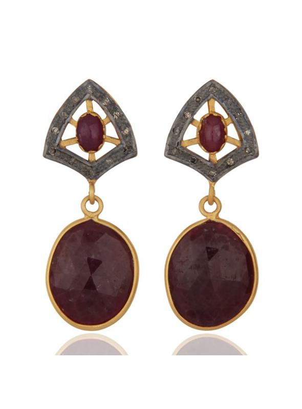Almas Earrings - DWSDE0097SLDIRB
