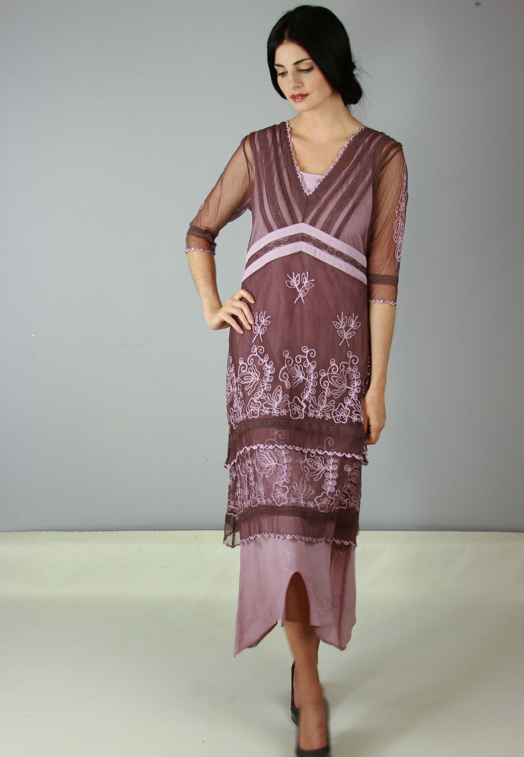 3e4b9d3fcf5 Vintage Titanic Tea Party Dress in Mauve by Nataya - SOLD OUT