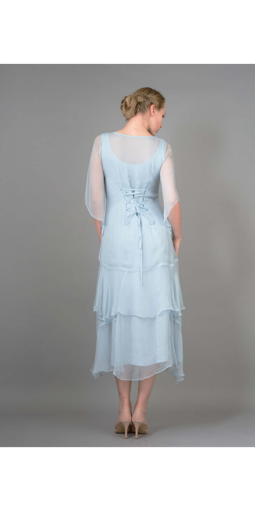 Layered Nataya Dress Al 10709 In Blue