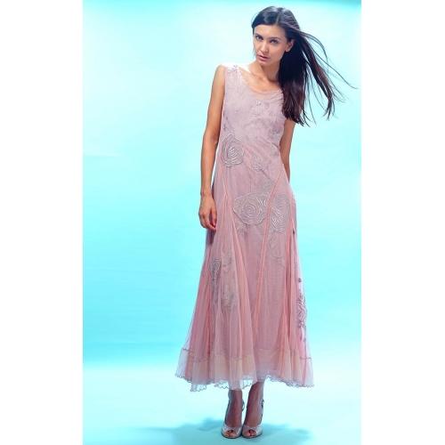 Amazing Grace Edwardian Wedding Dress in Pink by Nataya