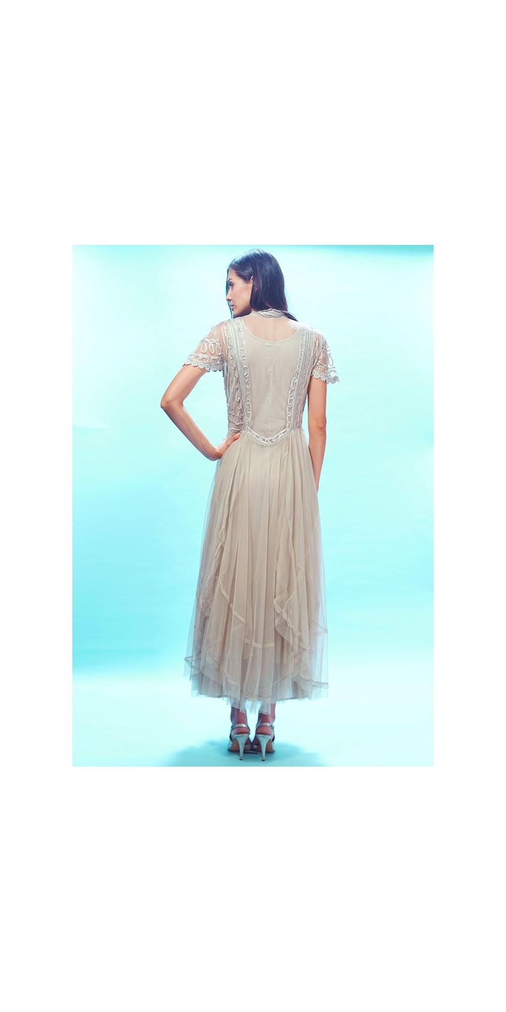 Edwardian Victoria Wedding Dress in Pearl by Nataya