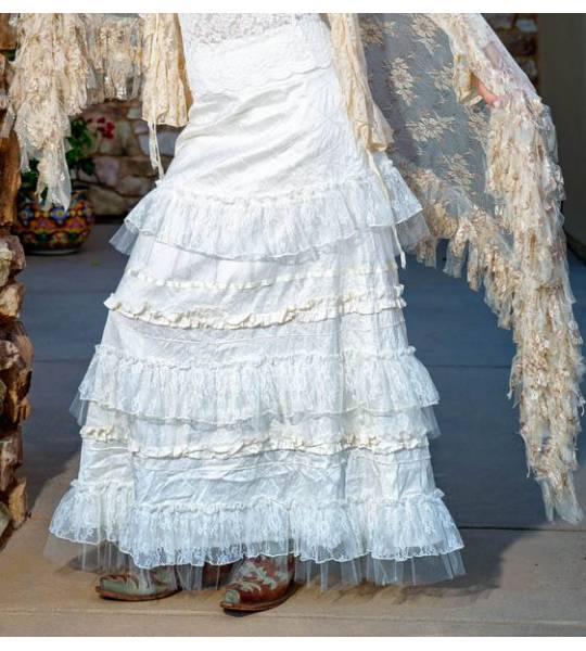 Victorian Skirts   Bustle, Walking, Edwardian Skirts Cinderella Caramella Western Wedding Skirt by Marrika Nakk $349.00 AT vintagedancer.com