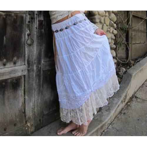 Western Petticoat Lace Skirt by Marrika Nakk