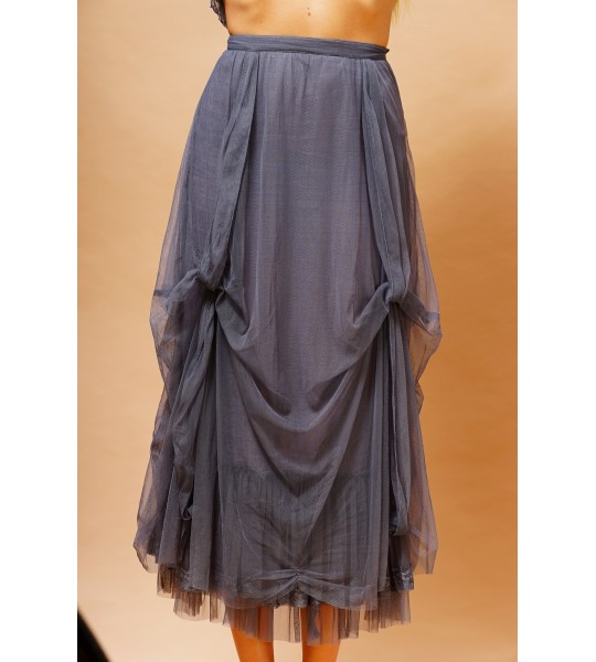 Vintage Inspired Romantic Skirt in Blue by Nataya