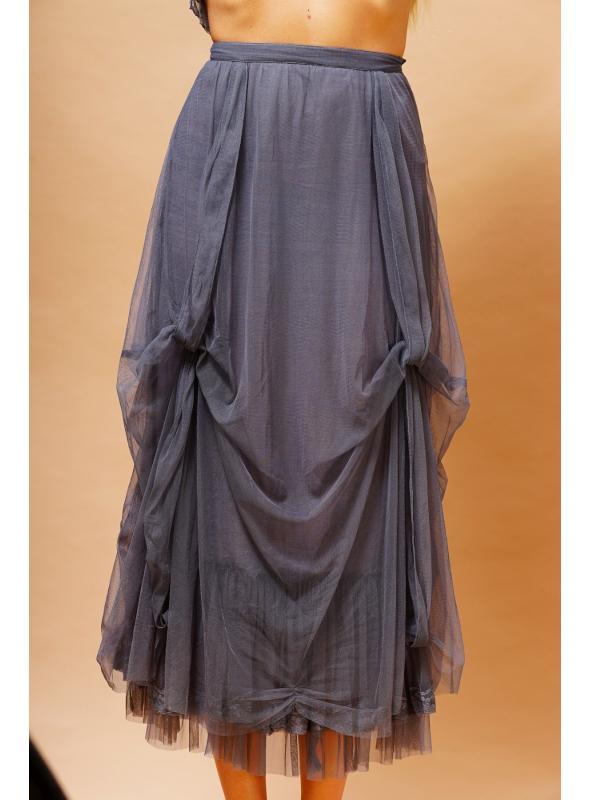 Vintage Inspired Romantic Skirt in Blue by Nataya