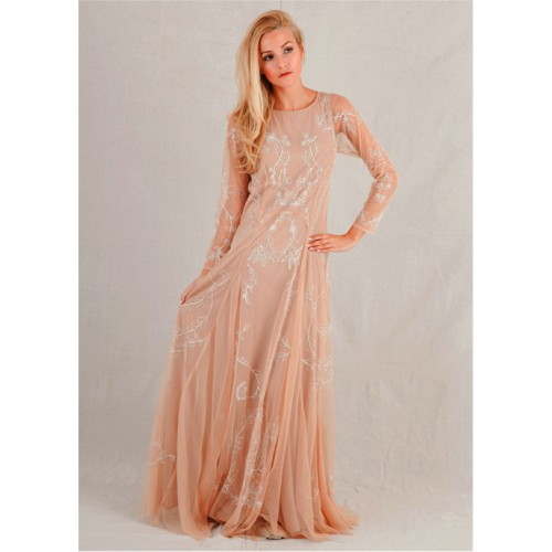 Siren Wedding Dress in Beige by Nataya