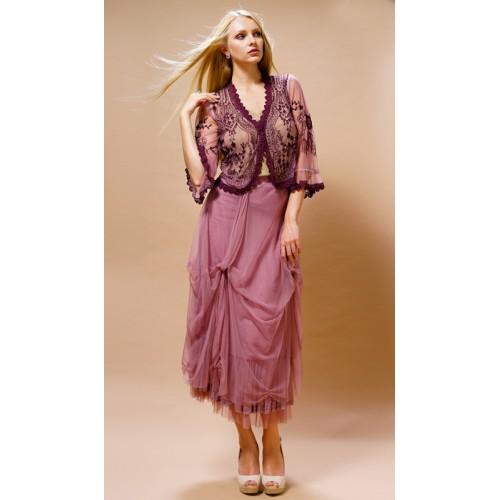 Romantic Vintage Style Jacket in Rose by Nataya