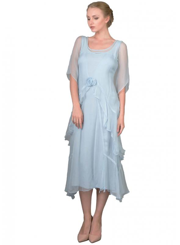 Great Gatsby Tea Party Dress in Blue by Nataya