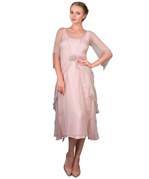 Great Gatsby Tea Party Dress in Rose by Nataya