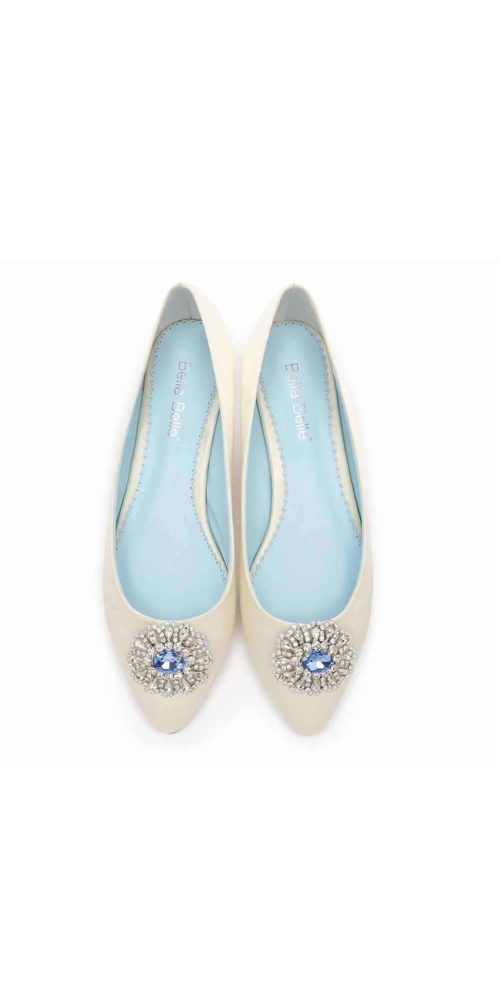 Vintage Style Wedding Shoes, Boots, Flats, Heels Jackie Bridal Flats $289.00 AT vintagedancer.com