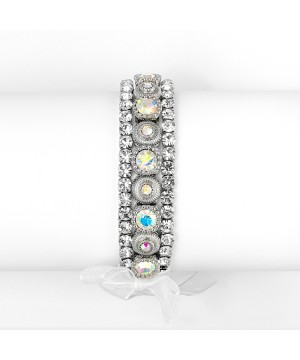3 Pc. Bezel Set Crystal Wedding or Prom Bracelet