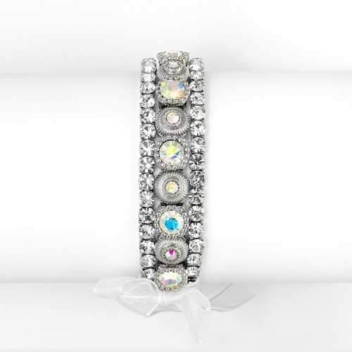 3 Pc. Bezel Set Crystal Wedding or Party Bracelet
