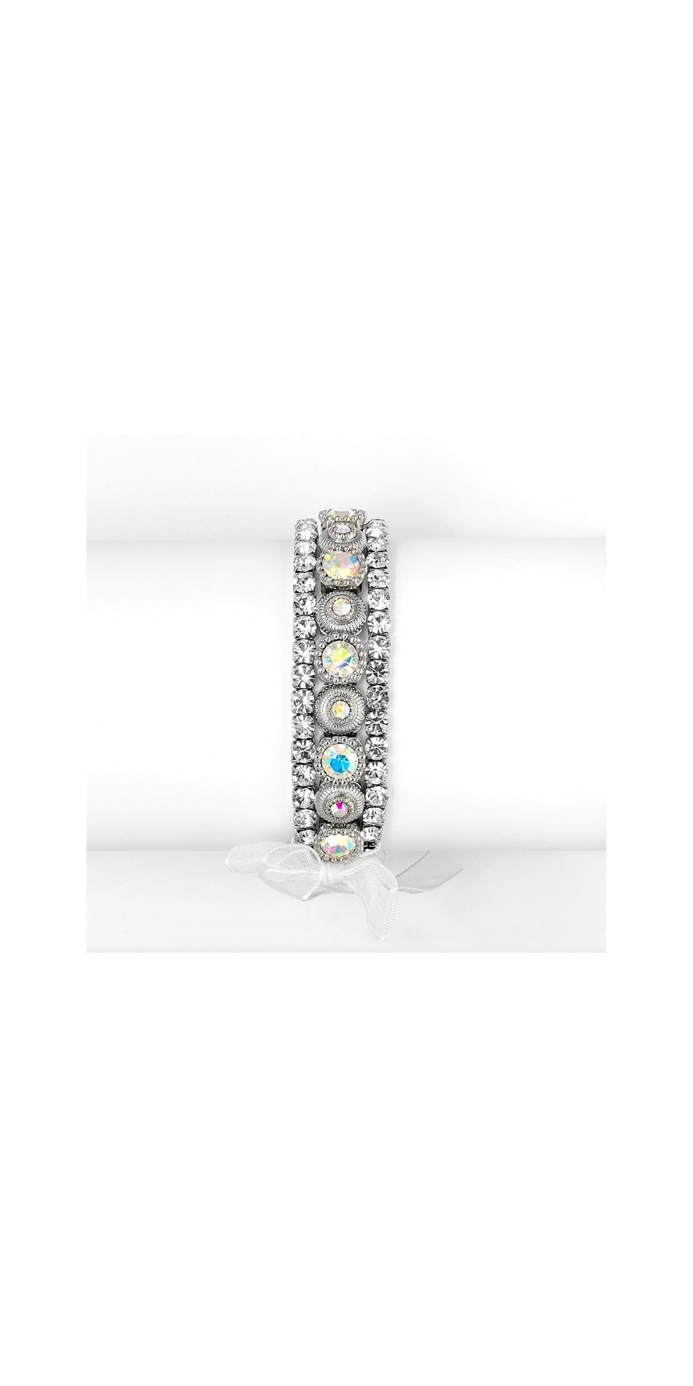 3 Pc Bezel Set Crystal Wedding Or Party Bracelet