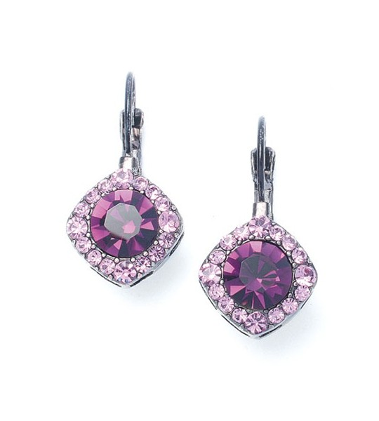 Tailored Amethyst Crystal Drop Earrings