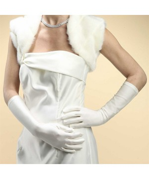 Below Elbow Wedding Gloves in Matte Satin