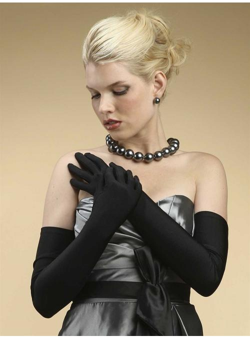 Opera Length Wedding or Prom Gloves - Matte Satin