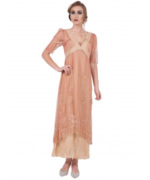 40007 New Vintage Titanic Dress in Rose/Gold
