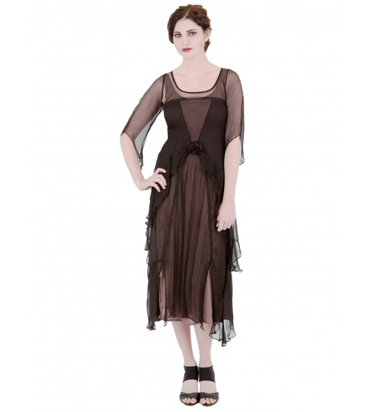 Great Gatsby Party Dress in Black/Coco by Nataya