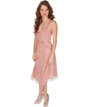 Alana AL-216 Vintage Style Party Dress in Soft Pink by Nataya