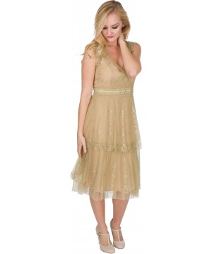Gianna AL-235 Vintage Style Party Dress in Sage by Nataya
