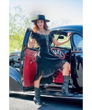Western Velvet Saloon Dress in Teal by Marrika Nakk