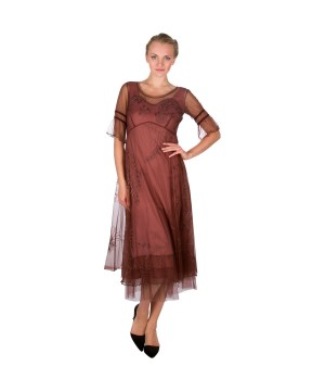 """""""Autumn Caprice"""" Vintage Inspired Party Dress in Opal by Nataya"""