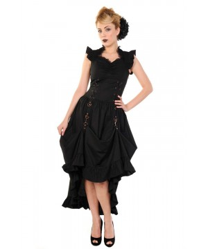 Gothic Styled Victorian Party Dress in Black