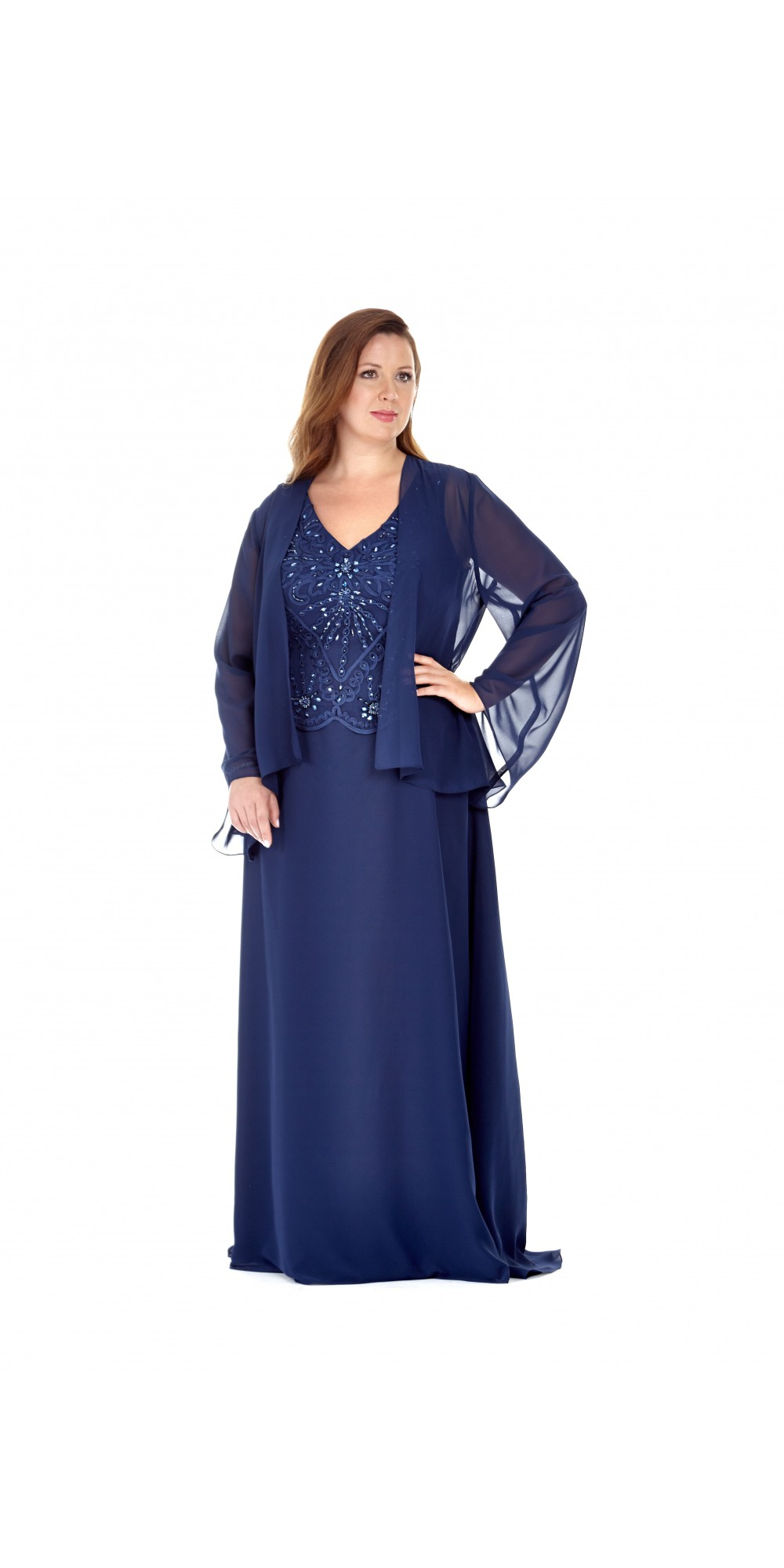 Vintage Style Long Beaded Evening Dress By Sydney S Closet