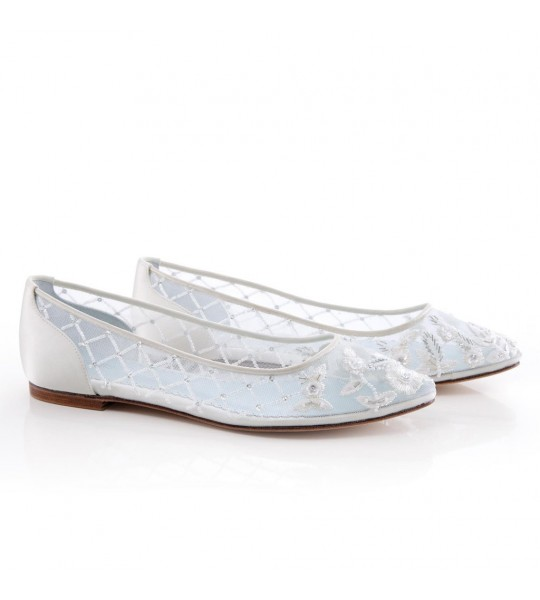 Allegra Vintage Inspired Bridal Flats