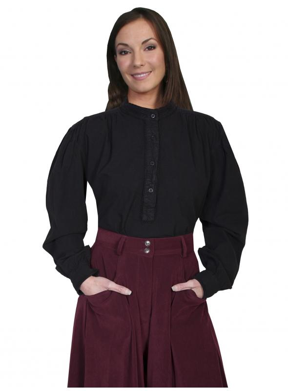 Rangewear Old Western Blouse in Black by Scully Leather