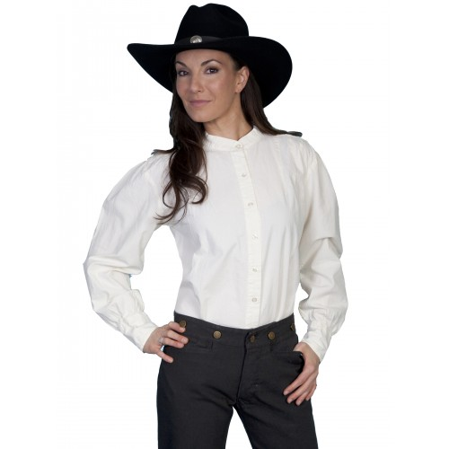 Western Style Blouse in Ivory