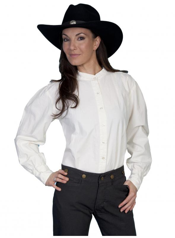 Rangewear Western Style Blouse in Ivory by Scully Leather