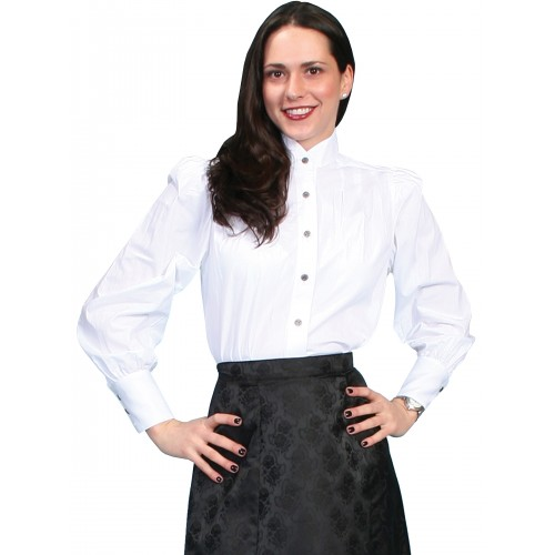 Classic Victorian Style Blouse in White