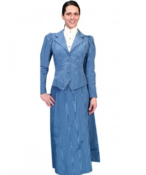 Wahmaker Victorian Style Five Gore Walking Skirt in Blue by Scully Leather