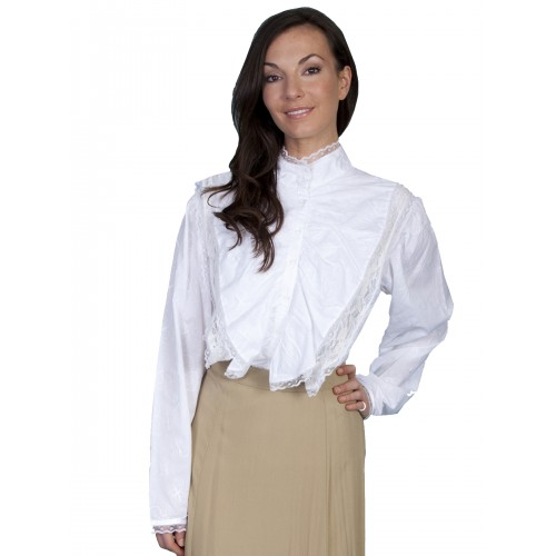 Parlor Conversation Blouse in White