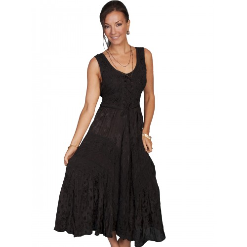 Joey's Canteen Cowgirl Dress in Black