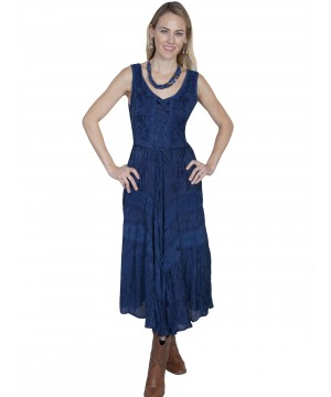 Honey Creek Joey's Canteen Cowgirl Dress in Blue by Scully Leather