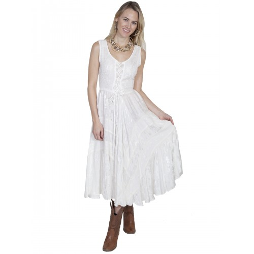 Joey's Canteen Cowgirl Dress in Ivory