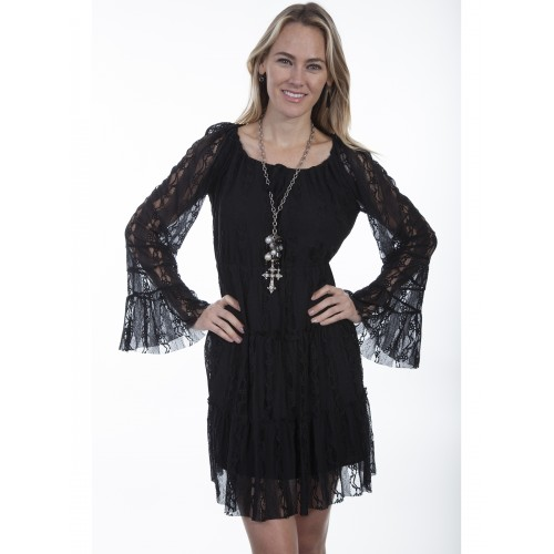 Saddle Up Sweet Cowgirl Dress in Black