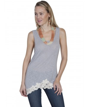 Vintage Inspired Tank in Grey by Scully Leather