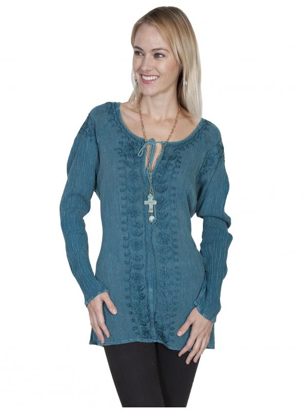 Honey Creek Coastal Wave Tunic in Teal by Scully Leather