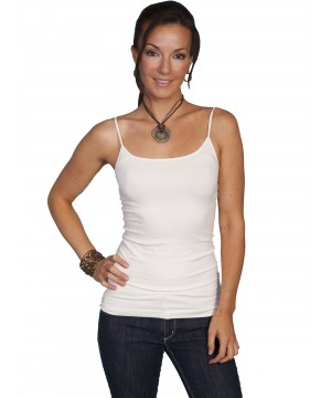 Honey Creek Spring Star Seamless Camisole in Ivory by Scully Leather