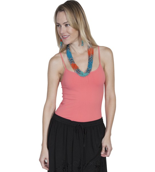 Honey Creek Spring Star Seamless Camisole in Melon by Scully Leather