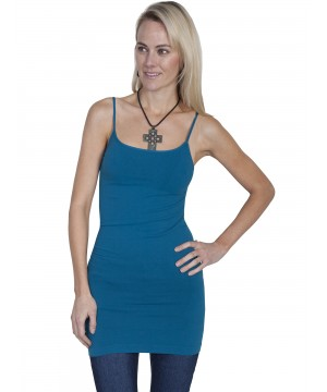 Honey Creek Spring Star Seamless Slip in Teal by Scully Leather