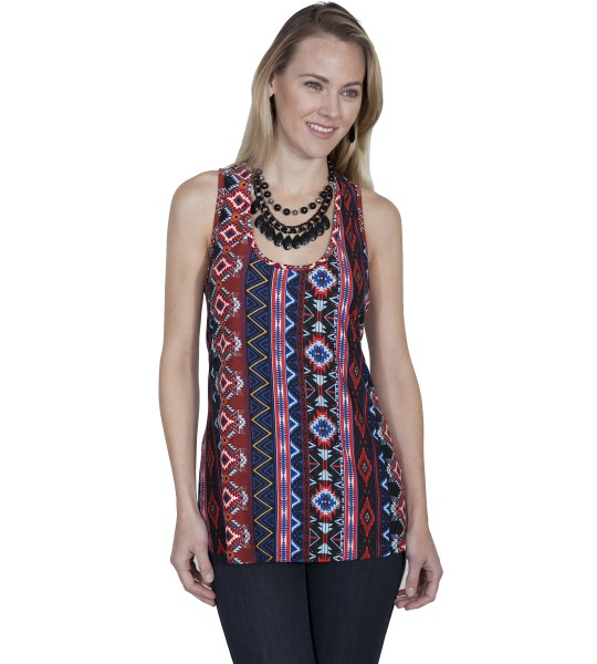 Honey Creek Ethnic Style Tank in Aztek by Scully Leather