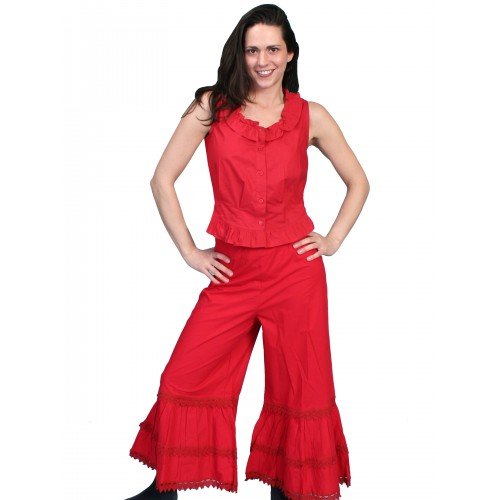Western Style Ruffled Bloomers in Red