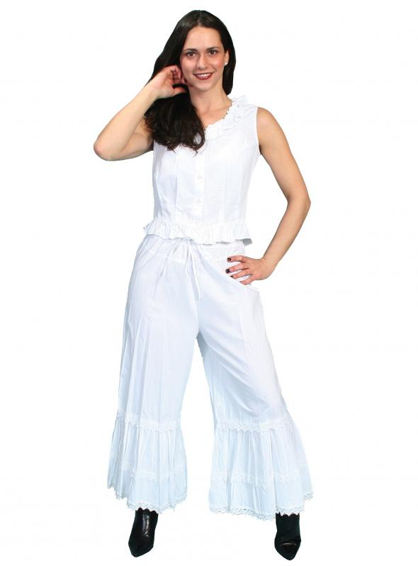 Rangewear Western Style Ruffled Bloomers in White by Scully Leather