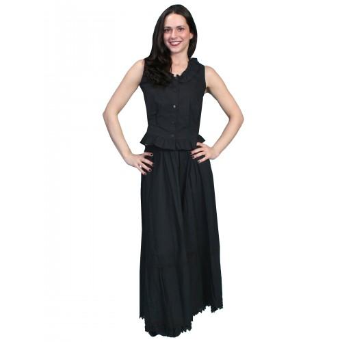 Victorian Style Petticoat in Black