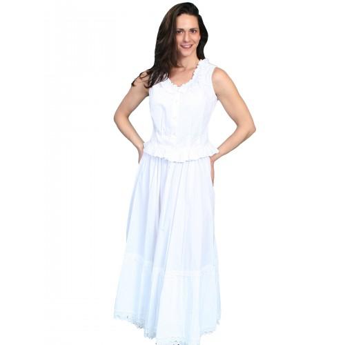 Victorian Style Petticoat in White